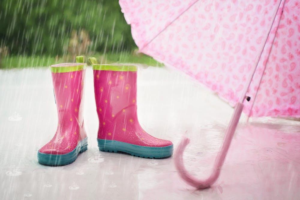 pexels. rain-boots-umbrella-wet